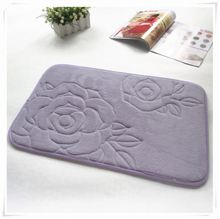 Fashion design household stripe bath mat/Memory foam bath mat_ Qinyi