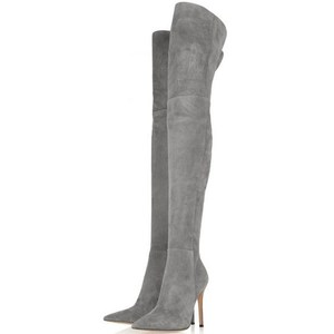 Wholesale Nubuck Sexy Women Ladies Thigh High Style Boots, Winter High Heel Long Boots for Women