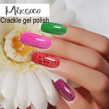 Crack Effect Uv Gel Nails Special Texture Nail Art Designs Soak Off