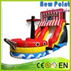 New Point PVC trampoline Children Inflatable Dry Slide
