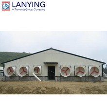 2018 new model light weight steel structural cow farm building