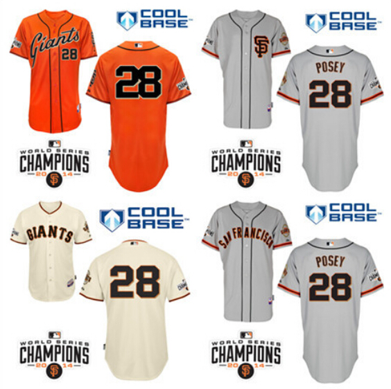 #28 Buster Posey Jersey San Francisco Giants Baseball Jersey Sports Jerseys Embroidery Logos