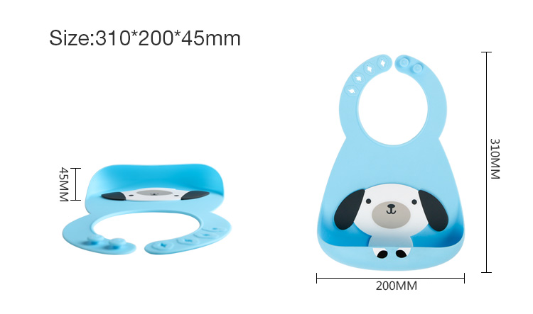 BSCI Adjustable Silicone Baby Bibs With Pocket