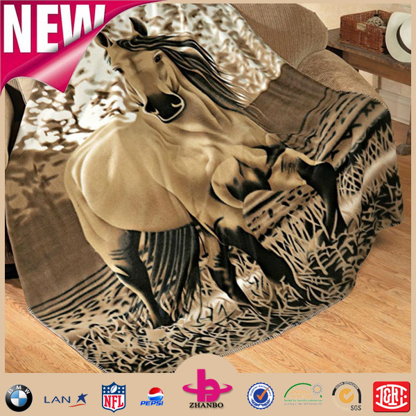 Cheap price high quality animal print full design vivi fleece blanket/throw blanket