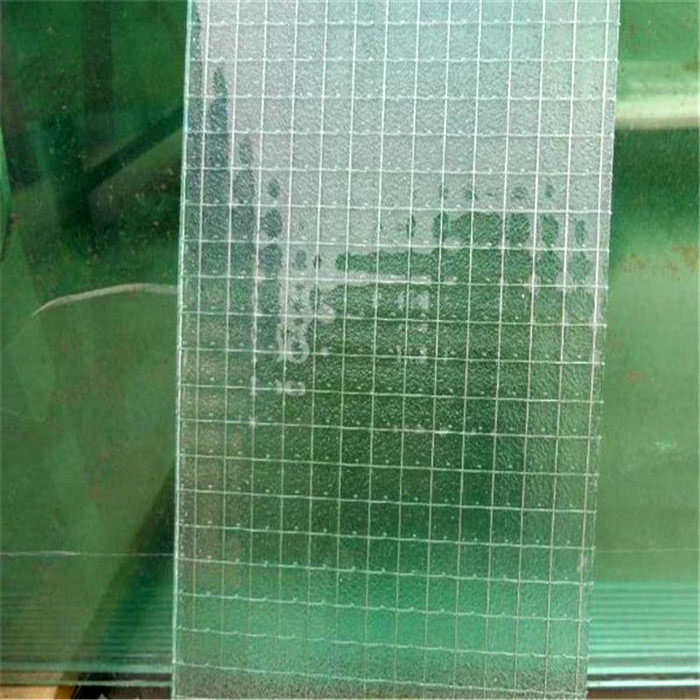 Factory customize size tempered wire mesh patterned glass for doors