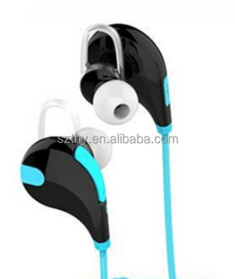 New Sports Bluetooth Earphone Wireless 4.0 Ear Hook SY-QY7 ( Blue )