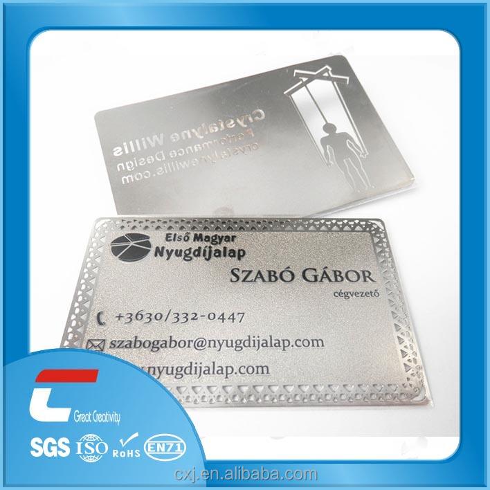 Factory Engraved Metal Sliver Card/ Membership Cards/metal ...