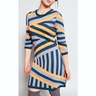 WOMEN'S 30% EXTRAFINE MERINO WOOL 35% VISCOSE 35% NYLON Intarsia stripe sweater Dress
