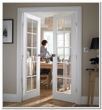 Modern interior white oak color solid wood 6 panel beveled glass modern interior white oak color solid wood 6 panel beveled glass french door planetlyrics Gallery