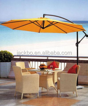 300cm Wooden Beach Umbrella Patio Parasol