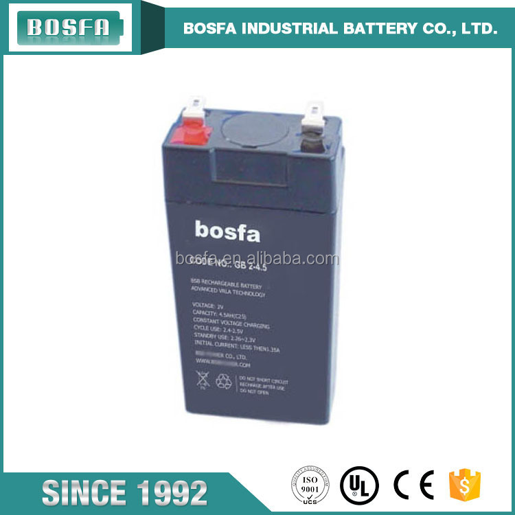 GB2-4.5 agm batteries marine 2v4.5ah VRLA battery marine ups used acid free batteries