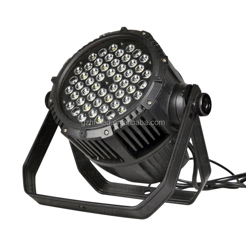 China supliers 54x3w Waterproof outdoor Par 64 LED RGBW Effect light DMX512 Disco DJ Stage Lighting