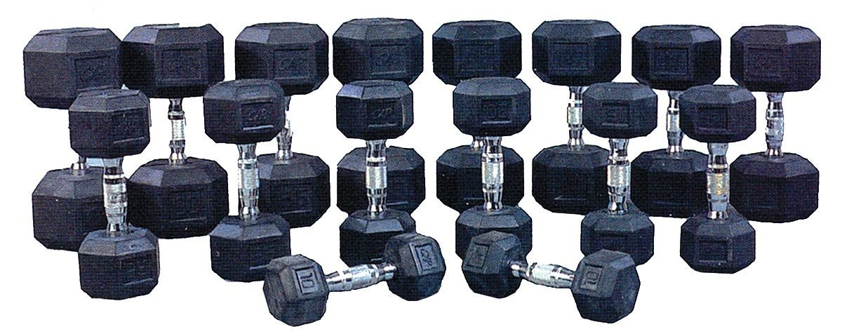 ProMaxima - HEXR1 - Dumbbell Set, Black; Weight: (2) 5 lb., (2) 10 lb., (2) 15 lb., (2) 20 lb., (2) 25 lb., (2) 30 lb.,