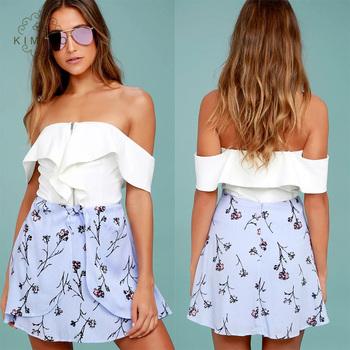 Wholesale Sexy Women Girls Short Mini Skirt Floral A Line Skirt