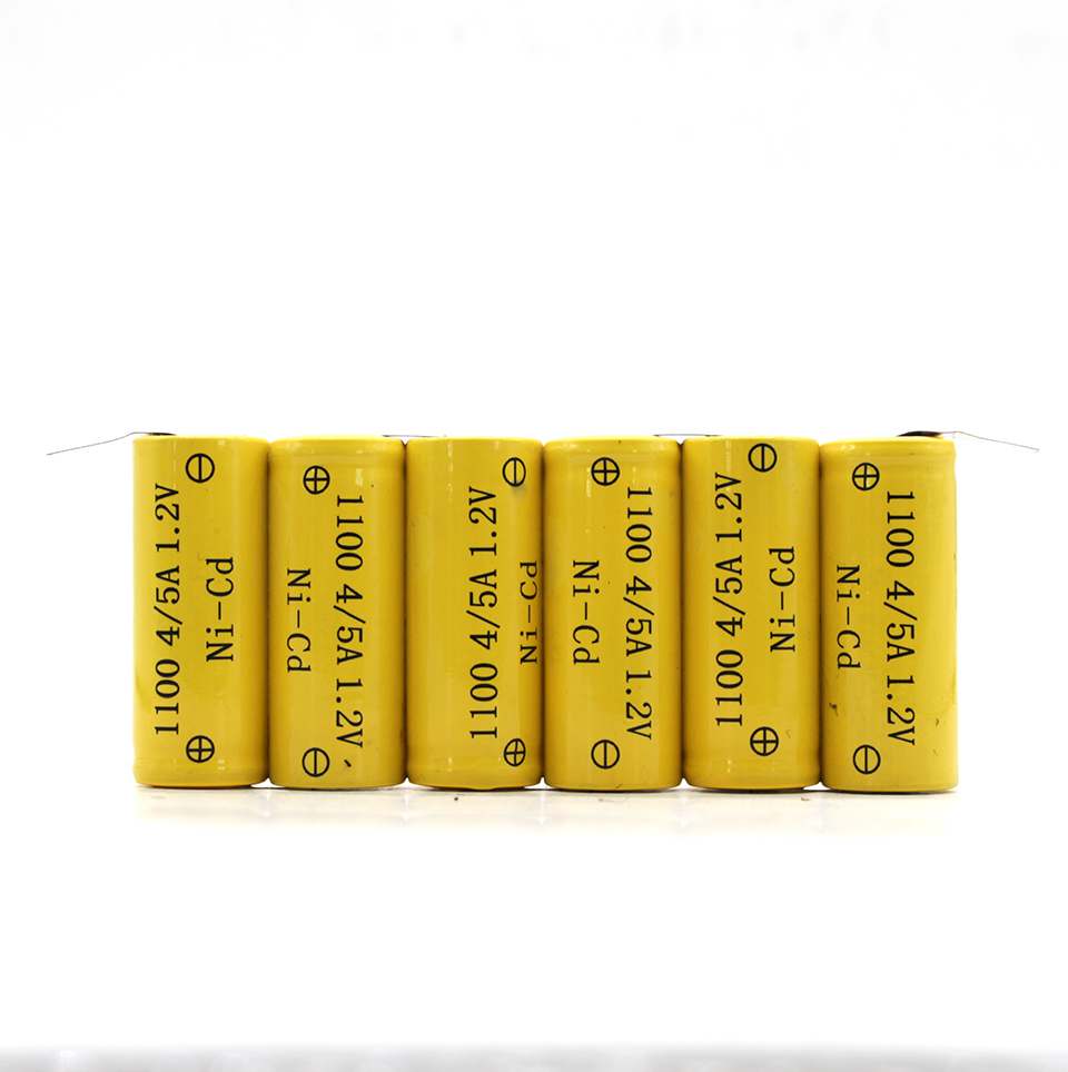 4/5A rechargeable battery pack 7.2v nicd battery pack 1100mAh for power tools,