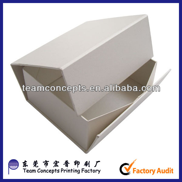 logo printed paper magnetic folding box in guang dong
