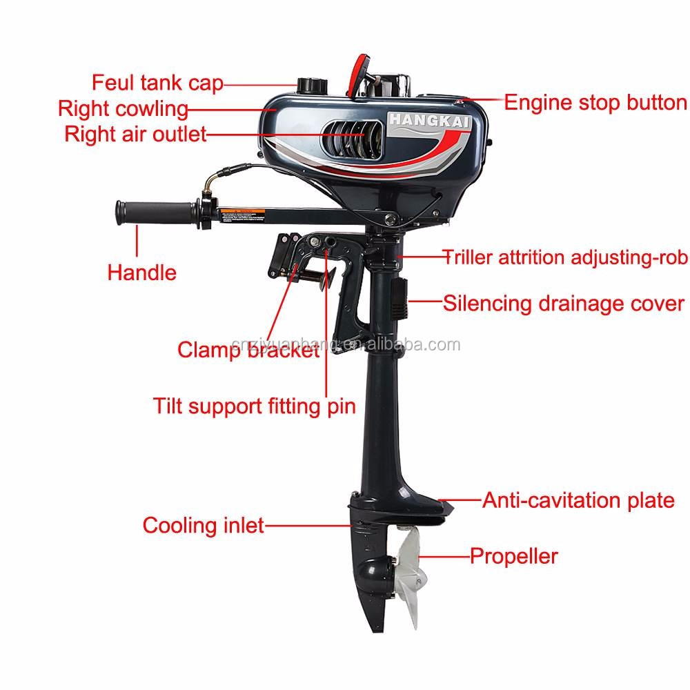 New Condition And Gasoline Fuel Type Outboard Motor 2hp