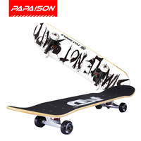 Wholesale 31x8 Canadian maple wood inch heat transfer printing 95A PU wheels double kick skateboards