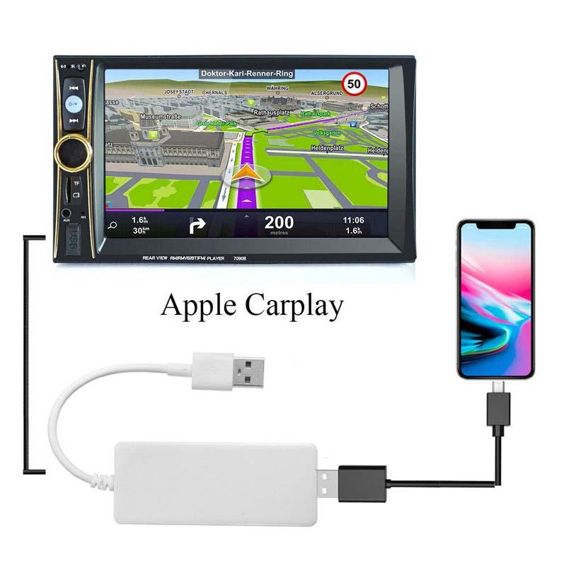 Handfree музыка играть Smart Link USB Белый CarPlay Android ключ для ben z bm w aud i