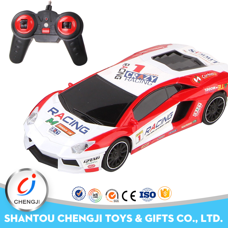 Excellent children plastic 4 channel play game racing car with light