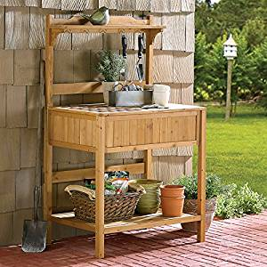 Wooden Potting Bench 60 Inch