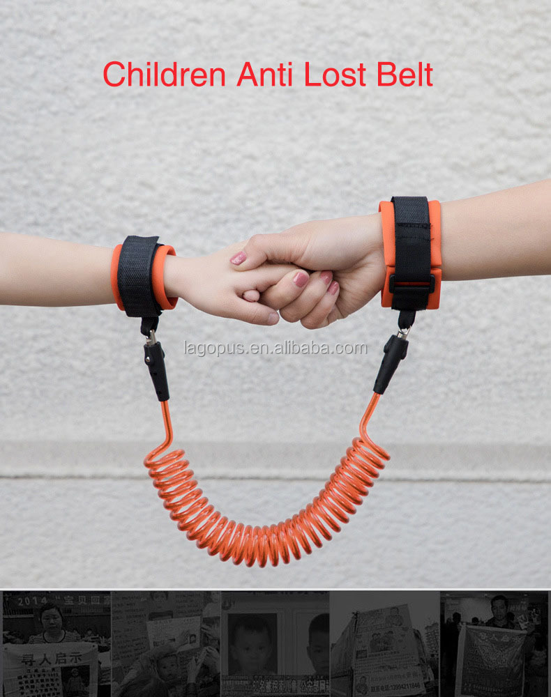 Kids Tracker Walking Waistband Anti Lost Baby Harness Leash Colorful Travel Wrist Belt For Toddler Walking Keeper