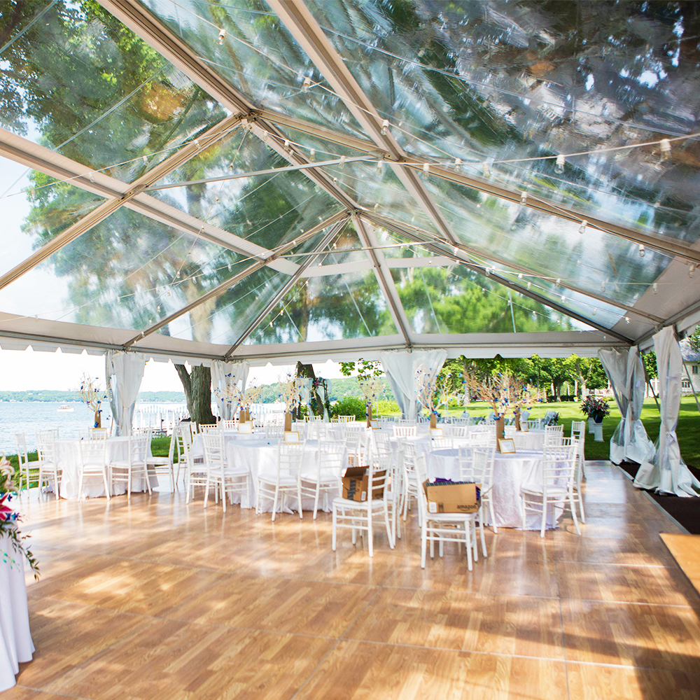 Outdoor Large Clear Roof Marquee Transparent Event Tent For Wedding