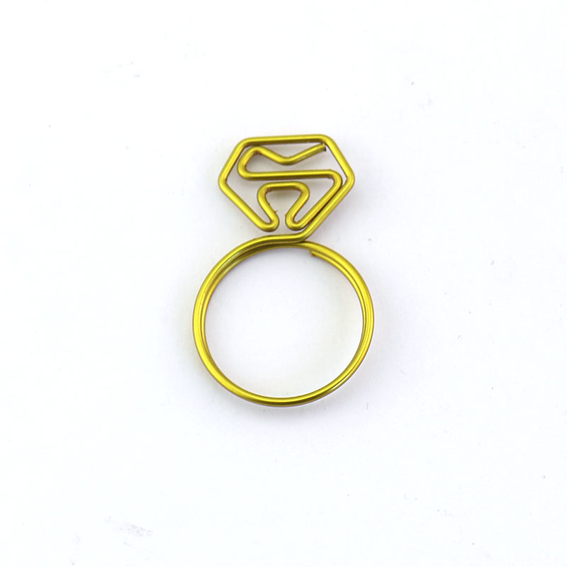 PET gold different kinds shaped paper clip