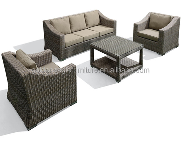 Guang dong outdoor patio furniture wicker sectional sofa RH Style Garden sofa