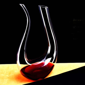 Glass Wine Decanter Factory 1500ml Antique Hand blown U shape Glass Wine Decanter DX-0015H
