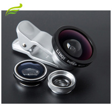 Mobile phone Camera Lens Universal Clip No Dark Corners Wide Angle Fish Eye Macro 3 in 1 Mobile