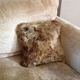 New design handmade real sheepskin pillow custom cushion