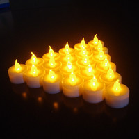 Wholesale CE&RoHS LED WEDDING PARTY Flameless Romantic Tea Light Electronic Flicker Candle Lights