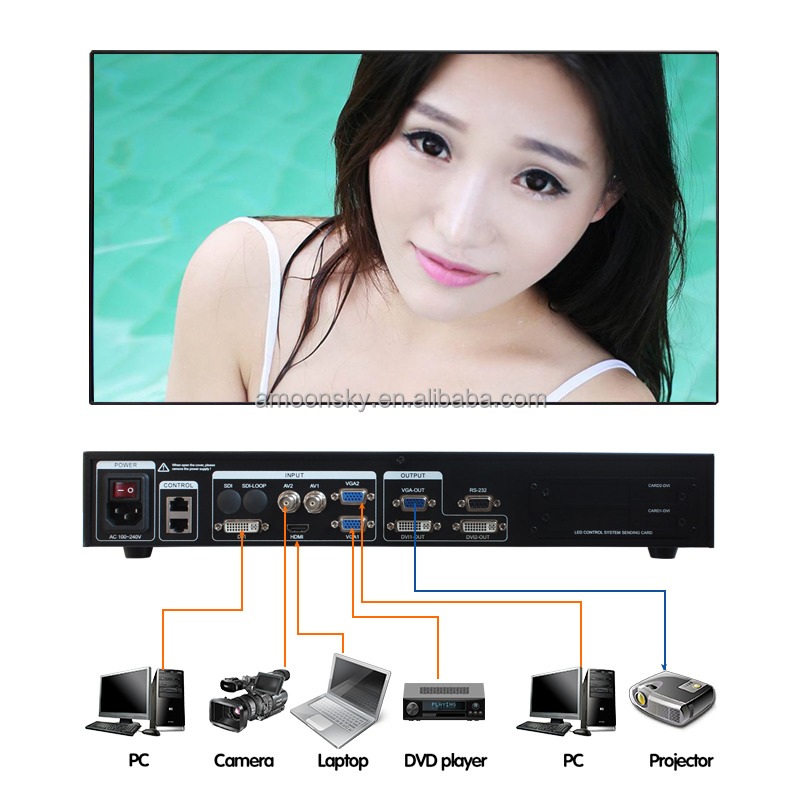 led smd display 1920x1080 led panel usage 2x3 video wall controller video processor