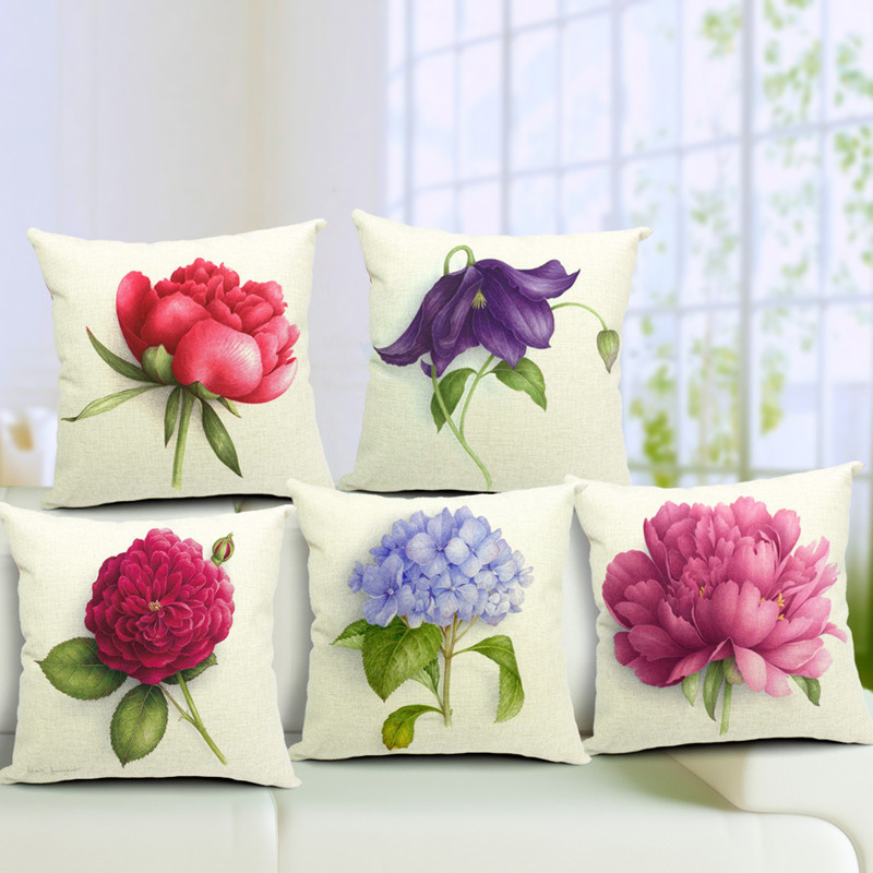 2017 Water Proof Outdoor Cushions Cover Outdoor 3d Flower Print Outdoor  Pillow Case