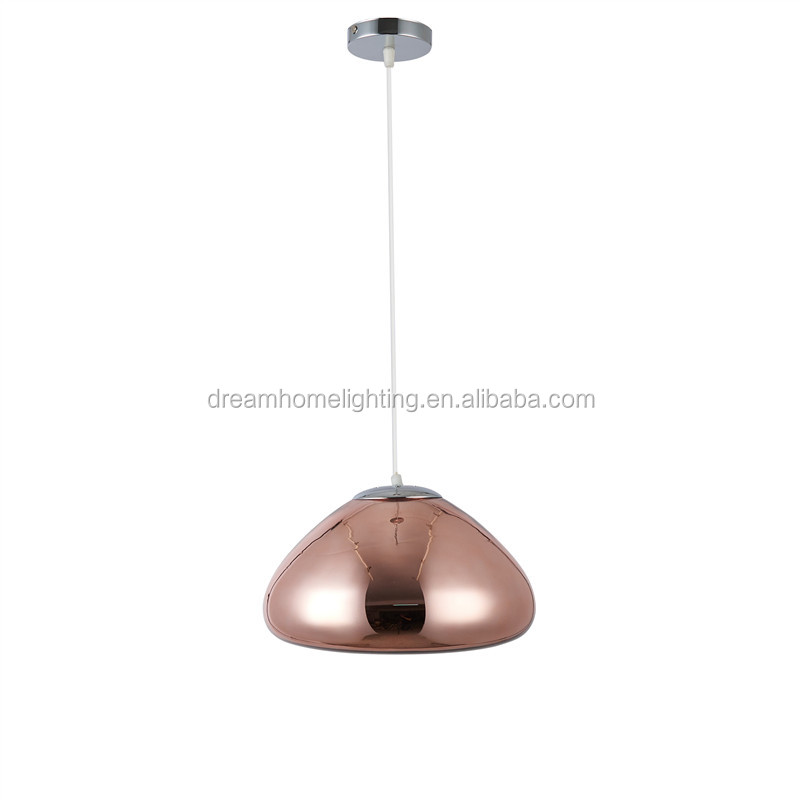 Modern Glass Pendant lamps Dining room Kitchen Luminaire Bowl abajur Led Gold Chandeliers Suspension Lamparas Light Fixtures
