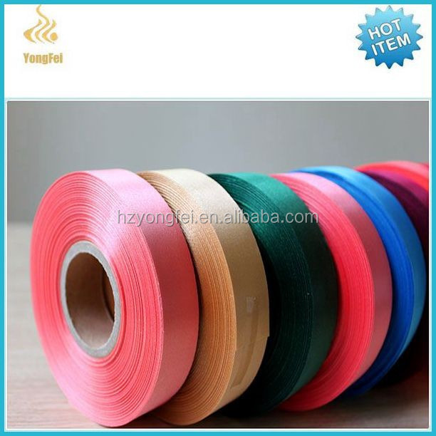 Wholesale polyester satin fabric label/grosgrain ribbon/custom ribbon grosgrain