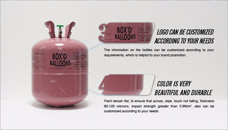 Happy Balloon Time 30LB/50LB Small Disposable Helium Gas Cylinder,Helium Tank
