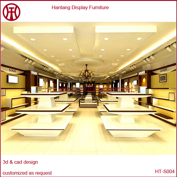 High End Shoes Exhibition Stands, Wooden Shoes Display Racks for Malls
