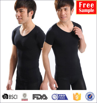 wholesale men's shape tshirt tank tops slim Stomach body tight thin body shaper