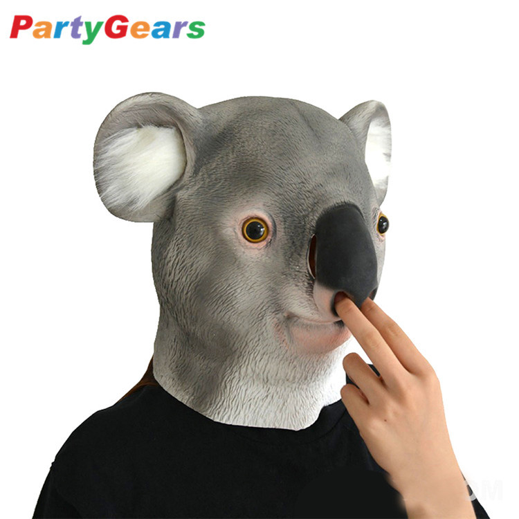 Party Masks Novelty Items Koala Bear Mask Hot-selling Funny Costume Genuine Latex Overhead Party Mask Festive & Party Supplies