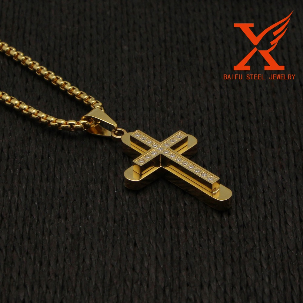 Hot Sale Stainless Steel Small Metal Crosses Cross Reference Pendant 316L Stainless Steel Men/Women Jewelry