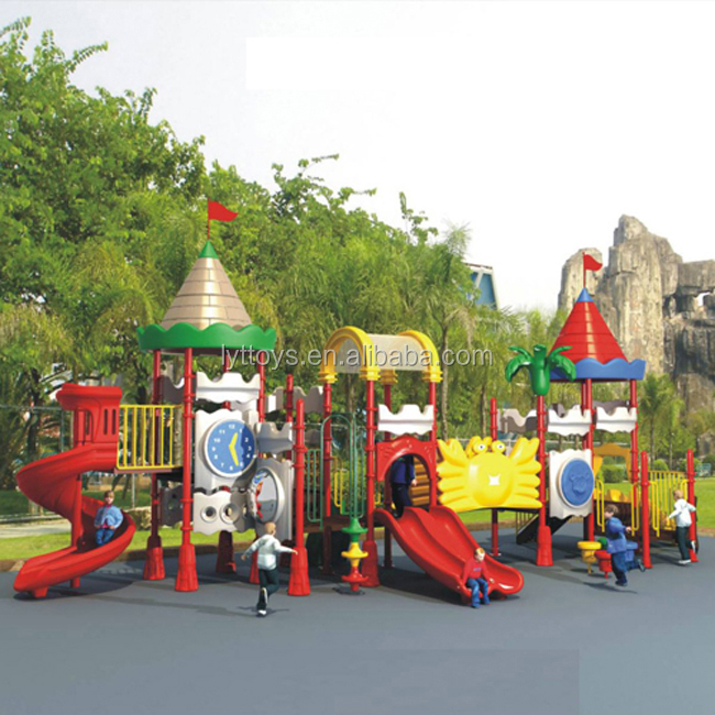 Bright and colorful kids outdoor playground slides equipment prices