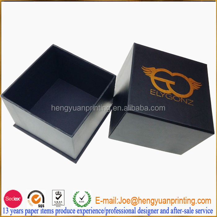 Luxury Square Candle box packaging with golden foil logo CH1071