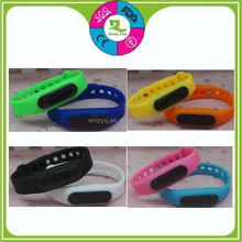 various jelly colors ajustable size led silicone bracelet watch for promotional gifts