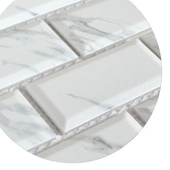 Ink Jet Weiße Grundbahn-fliesen Muster Carrara Porzellan Mosaik Bad Fliesen  - Buy Carrara Marmor Mosaik-fliesen,U-bahn Fliesen,U-bahn Fliesen ...