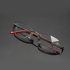 fashion women metal rimless reading glasses