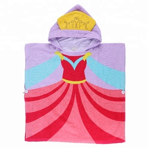 Bath Custom princess kids hooded poncho beach towel
