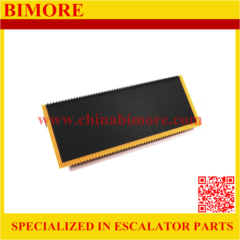 BIMORE F00700000-256 Escalator step with 3 sides yellow plastic demarcations for Giantkone