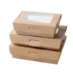 Disposable take away fruit carton box with food paper